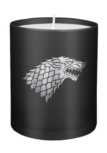 Game of Thrones House Stark Glass Candle