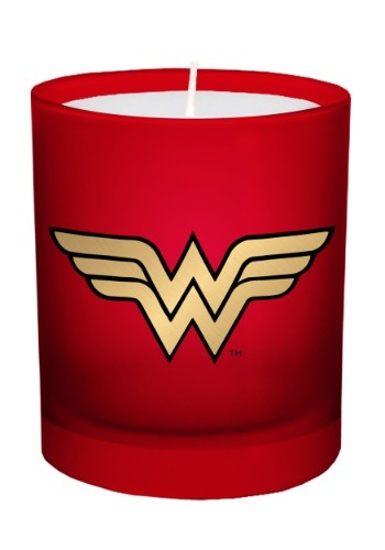 DC Comics Wonder Woman Glass Candle