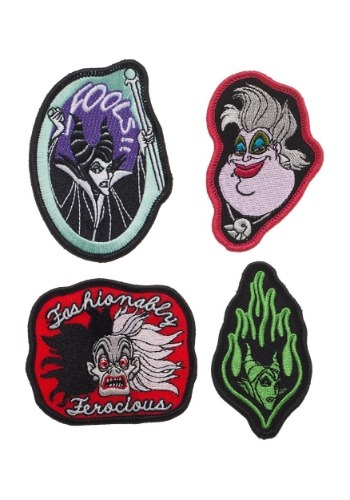 Embroidered Disney Villains Patch Set of 4