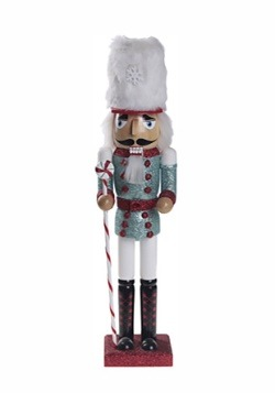 "16"" Peppermint Christmas Nutcracker"