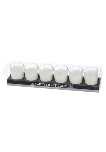 Unscented White Party Light Candles, Set of 6