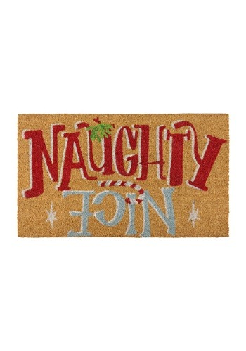 Naughty Nice Christmas Doormat