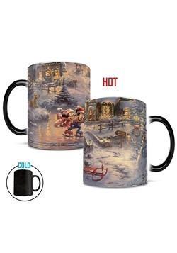Thomas Kinkade Disney Mickey & Minnie Holiday Morphing Mug