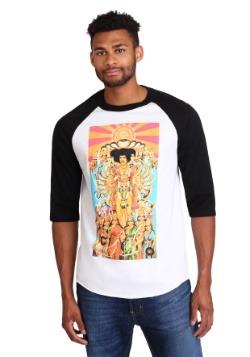 Men's Jimi Hendrix Raglan Elevated Print Raglan Shirt