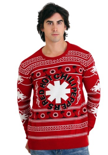 Red Hot Chili Peppers- Palm Trees Ugly Christmas Sweater