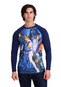 Star Wars: A New Hope Poster Men's Navy Raglan