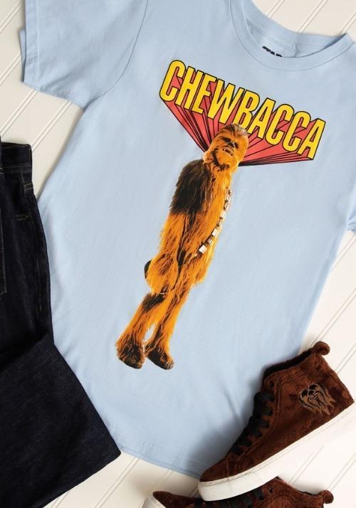 Chewbacca! Mens Light Blue T-Shirt 1