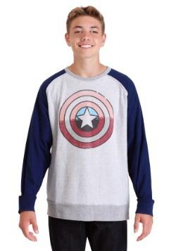 Marvel Captain America Shield Grey/Navy Fleece Pullover