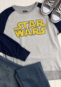 Star Wars Logo Grey/Navy Fleece Pullover