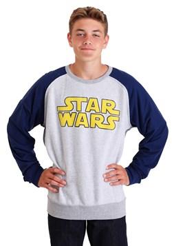 Star Wars Logo Grey/Navy Fleece Pullover