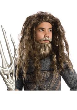 Child Aquaman Beard and Wig Set