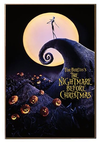 "Nightmare Before Christmas 13"" x 19"" Printed Wood Sign"