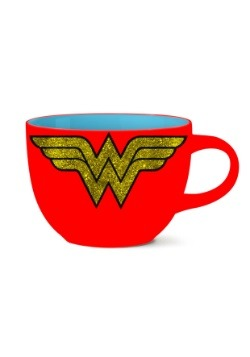 Wonder Woman Logo 24oz Ceramic Glitter Soup Mug