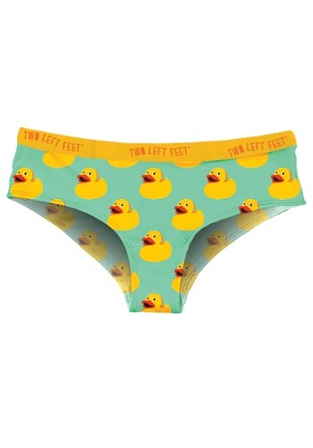 Two Left Feet Sitting Rubber Duck Women's Hipster Underwear