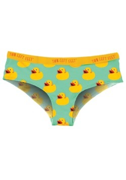 Two Left Feet Sitting Rubber Duck Women's Hipster Underwear
