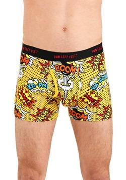 Two Left Feet Comic Print Men's Trunk Boxer Brief Underwear