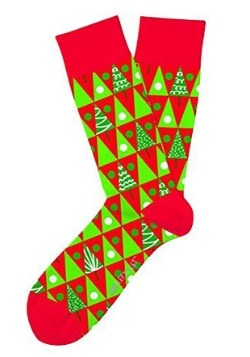 Two Left Feet Christmas Pine Grove Adult Socks