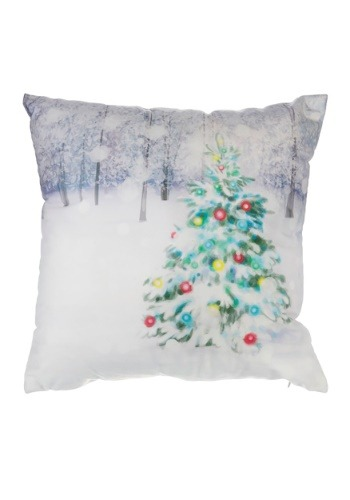 "It's a White Christmas 16"" Pillow with LED Lights"