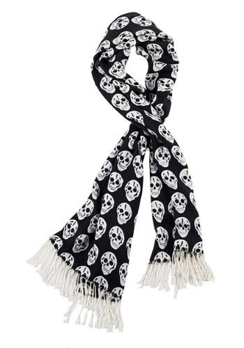 Skull Black and White Scarf