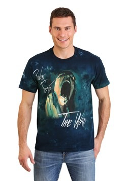 Adult Pink Floyd The Wall Screaming Face Tie-Dye T-Shirt