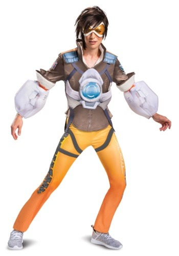 Overwatch Womens Tracer Deluxe Costume