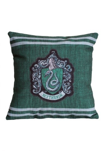 "Harry Potter Slytherin Stitch Crest 14"" x 14"" Throw Pillow"