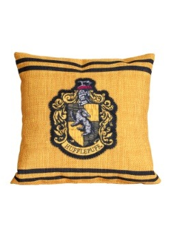 "Harry Potter Hufflepuff Stitch Crest 14"" x 14"" Throw Pillow"