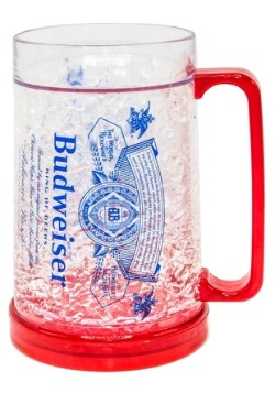 Budweiser Label 16oz Freeze Gel Plastic Mug