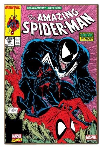 """13"""" x 19"""" Wood Wall Décor Venom vs Spiderman"""
