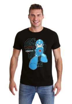 Mega Man Classic Protect The World Black T-Shirt
