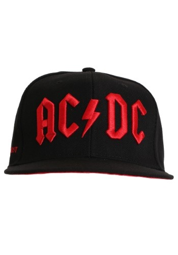 AC/DC Red 3D Embroidered Logo Snapback Hat