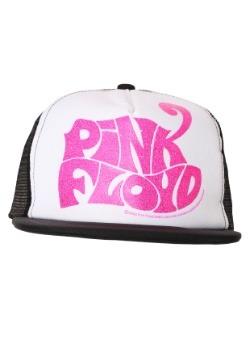 Pink Floyd Pink Glitter Logo Mesh Back Flatbill Trucker hat