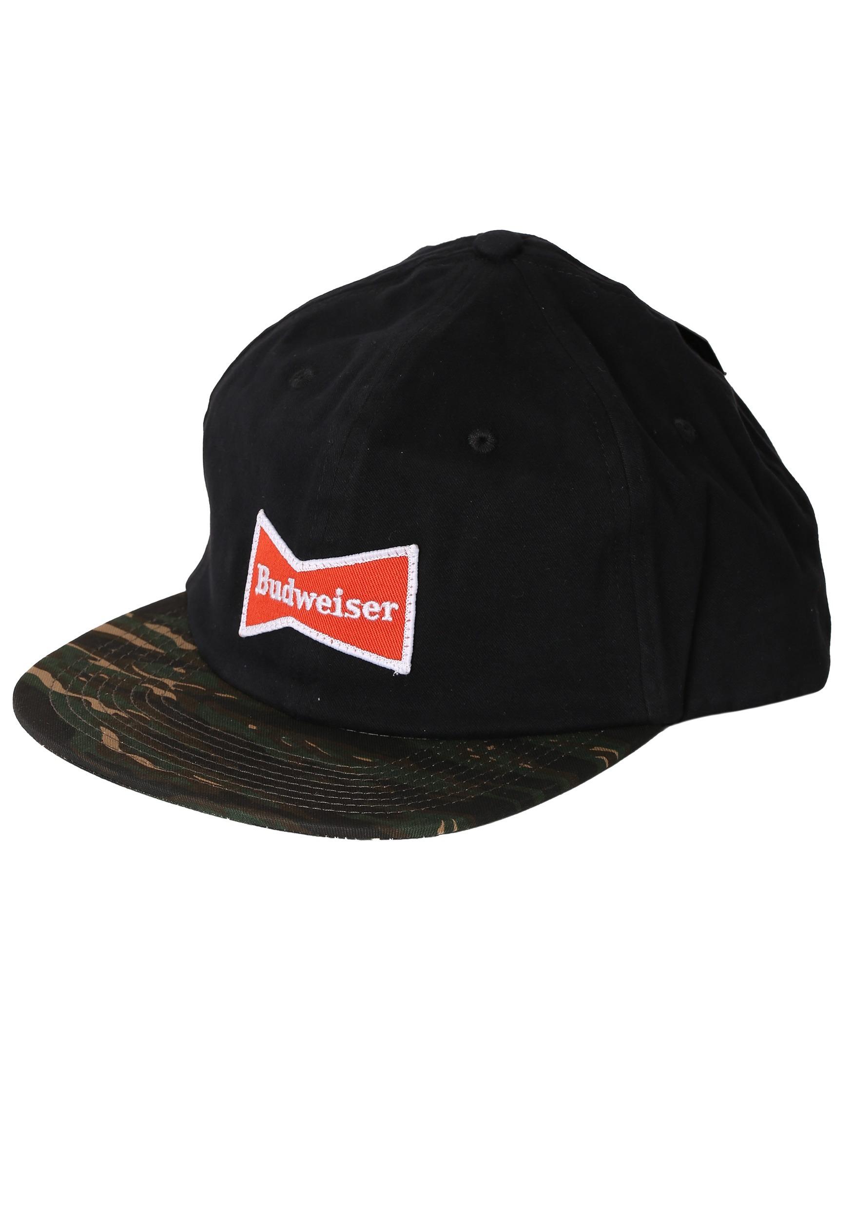 cfb09740863e3 Bowtie Black Camo Budweiser Flatbill Hat