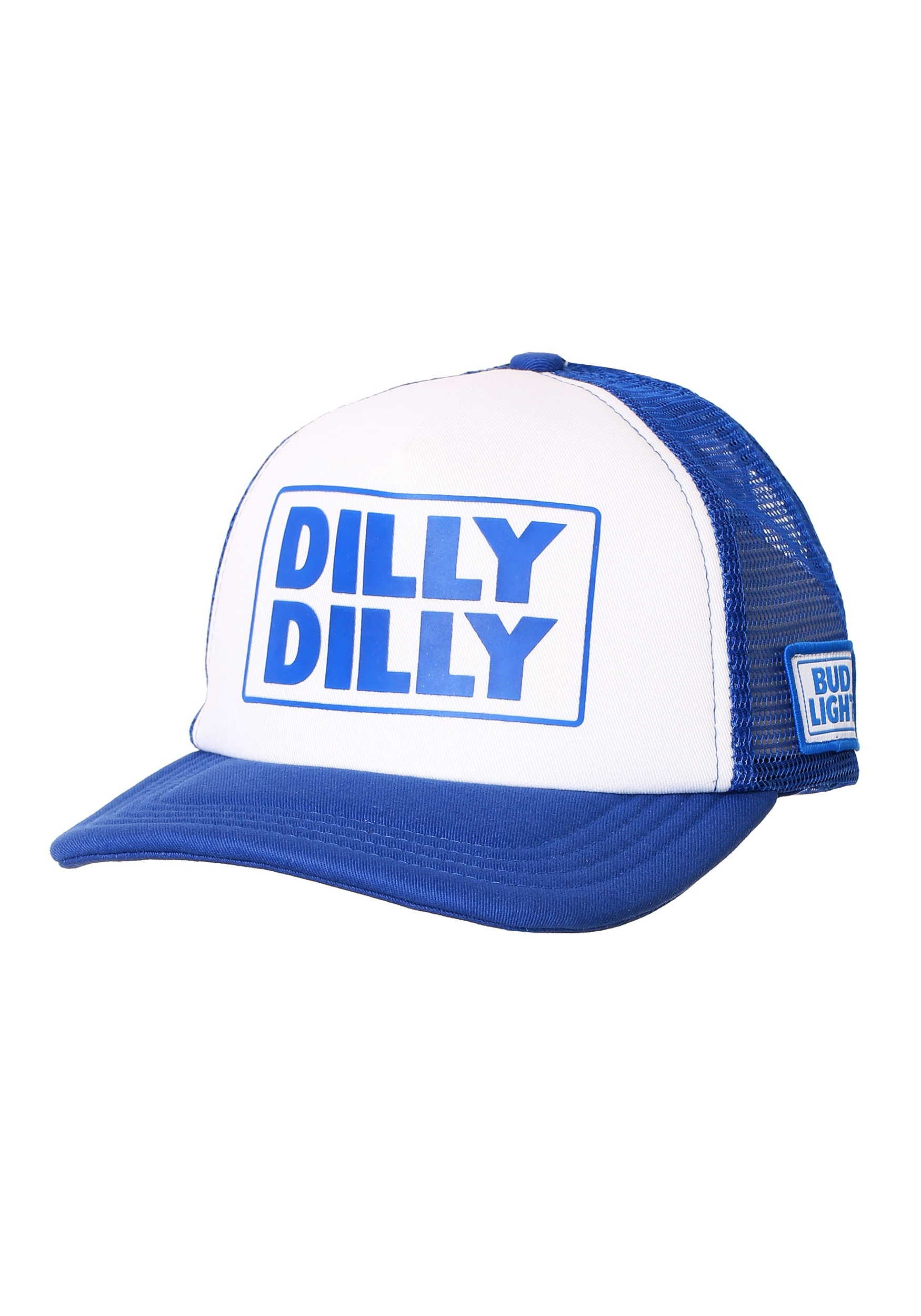 6571fd2fae Dilly Dilly Bud Light White/Blue Trucker Hat