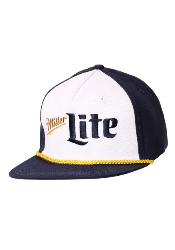Miller Lite Blue/Gold/White 5 Panel Flatbill Hat