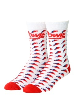 David Bowie Ziggy Stardust Knit Crew Socks