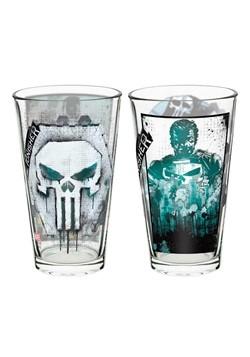 Marvel Punisher 2pc 16oz Glass Tumbler Set