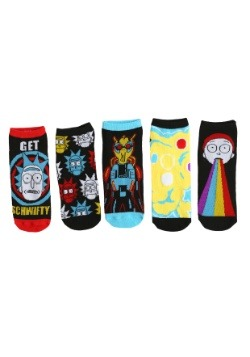 Womens Rick and Morty Schwifty 5 Pair Lowcut Socks