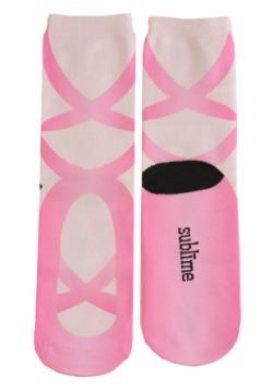Ballerina Adult Pink Crew Socks