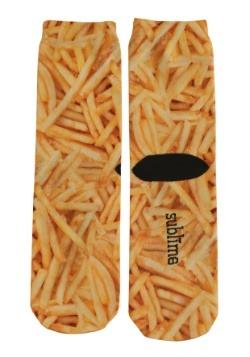 French Fries Adult Crew Socks