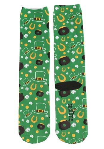 Saint Patrick's Day All Over Print Adult Knee-High Socks