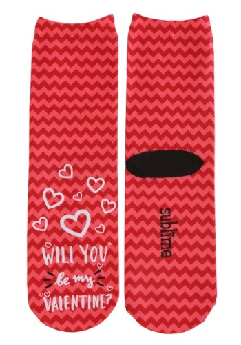 Will You Be My Valentine Adult Crew Socks