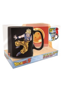 Dragon Ball Z Goku Buu Heat Change Mug Coaster Set