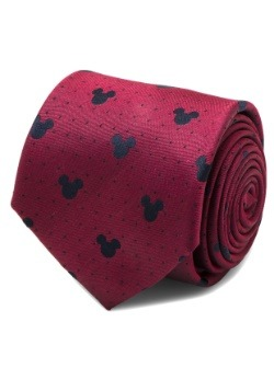 Mickey Mouse Red Pin Dot Tie