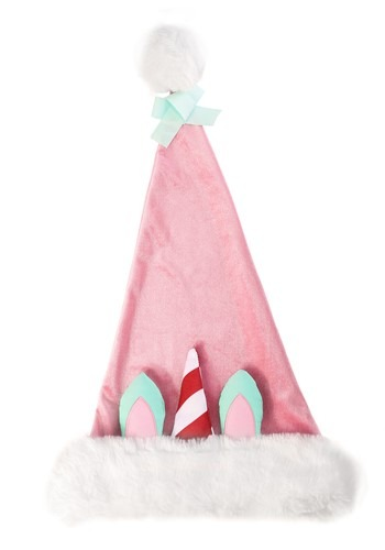 Ugly Holiday Unicorn Santa Hat
