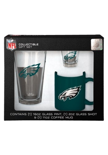 Philadelphia Eagles Drinkware 3 Piece Gift Set