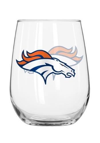 Denver Broncos 16oz Curved Glass