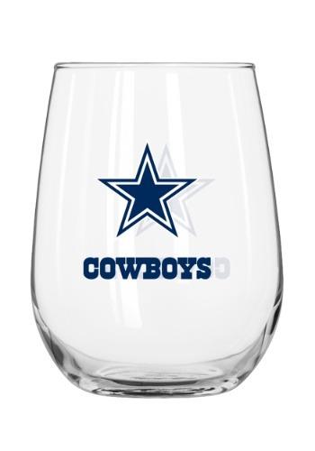 Dallas Cowboys 16oz Curved Glass