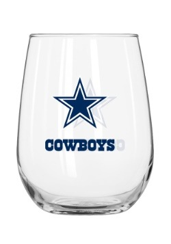 Dallas Cowboys 16oz Curved Glass