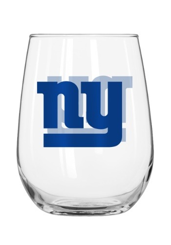 New York Giants 16oz Curved Glass
